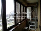 Остекление балкона ламинированный алюминиевый профиль